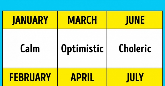 Approved by Scientists: Your Birth Month Influences Your Health and Character