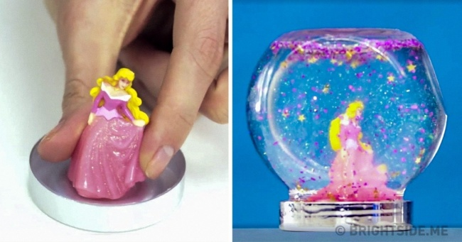 One simple method for making a snow globe for your child